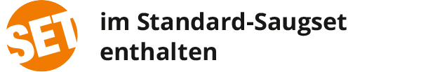im Standard-Saugset enthalten